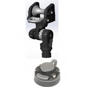 ARrb003 (ARr003+FMb) Роликовый узел для якоря с пластиковым кольцом и механизмом наклона и набором для установки на жесткий борт (черный)