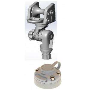 ARrb003 (ARr003+FMb) Роликовый узел с пластиковым кольцом и механизмом наклона  с набором для установки на жесткий борт (серый)