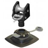 ARrp002  (ARr002+FMp224) Роликовый узел для якоря с напрявляющим пластиковым кольцом и набором для установки на надувной борт (черный)