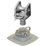 ARrp002  (ARr002+FMp224) Роликовый узел для якоря с напрявляющим пластиковым кольцом и набором для установки на надувной борт (серый)