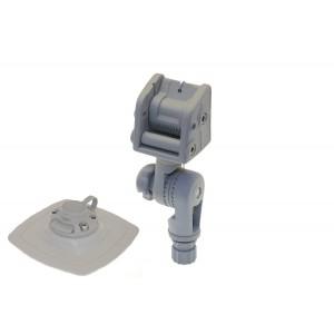 ALp003  (AL003+FMp225) Стопорный узел для якоря с механизмом наклона и набором для установки на надувной борт (серый)