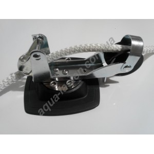 Стопорно-роликовый узел для якоря с набором для установки на надувной борт Mp225 (серый)