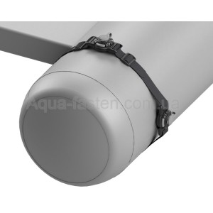 BBm002 Два замка с монтажной системой крепления на ремне (черный)