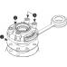 FMb Замок + Монтажная площадка для установки на жесткую поверхность.(белый)