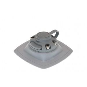FMs224 Замок и монтажная площадка ПВХ c 3M VHB скотчем для установки на жесткую поверхность (серый)