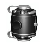 FMr225 Замки и монтажная площадка для установки на трубу Ø 22, 25 мм (черный)