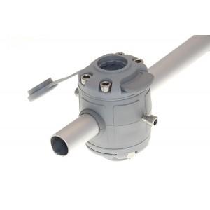 FMr225 Замки и монтажная площадка для установки на трубу Ø 22, 25 мм (серый)