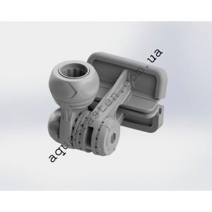 FMx225 Замок компактный с монтажной площадкой для установки на ликтрос надувной лодки ПВХ (серый)
