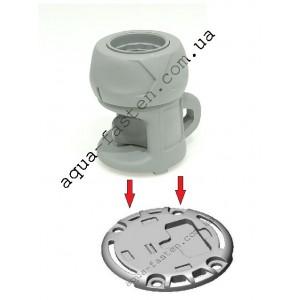FMb218 Замок компактный и монтажная площадка для установки на жесткую поверхность (серый)