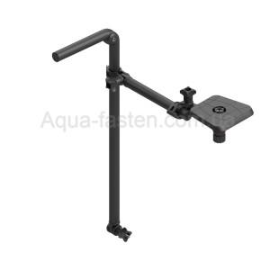 Ft601 Площадка для эхолота 100*100 мм с креплением датчика ( трансдьюсера )  (черная крашенная труба)