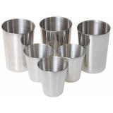Gl221 Набор стаканов из нержавеющей стали состоящий из 3 шт. стаканов (150 мл), 3 шт. стакана (50 мл)