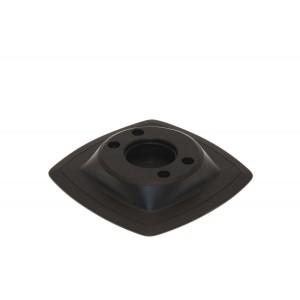 Mp224 Монтажная ПВХ-площадка (110 х 110 мм) (черный)