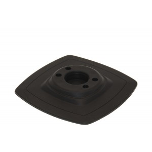 Mp225 Монтажная ПВХ-площадка (140 х 140 мм) (черный)