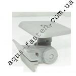 SLtx223 (Sl223+Mx) Площадка 100*100 мм для установки эхолота и другого оборудования с набором для крепления на ликтрос (серый)