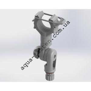 Rh101 Держатель удилища с эластичным прижимом и механизмом наклона (серый)