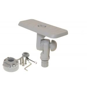 SStb223 (SSt223+ FMb) Площадка для эхолота и другого оборудования 164*68 мм с поворотно-наклонным механизмом и набором для установки на жесткий борт (серый)