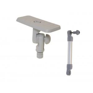 SSx223 (SSt223+Ex325) Площадка 164*68 для эхолота и другого оборудования с удлинителем и поворотно-наклонным механизмом (серый)