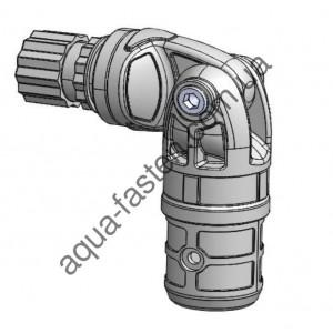TFp254 Узел карданный пластиковый, для труб с наружным  Ø 22 мм  или внутренним  Ø 29 мм (серый)