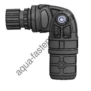 TFp254 Узел карданный пластиковый, для труб с наружным  Ø 22 мм  или внутренним  Ø 29 мм (черный)