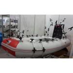 Лодка надувная Шельф СК 250 FASTen (серо-красный)