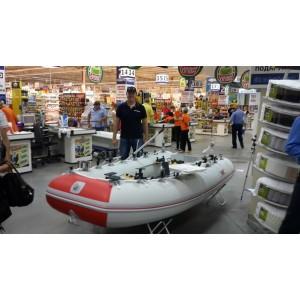 Човен Шельф СК 330 FASTen (сіро-червоний)