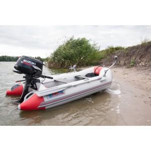 Лодка надувная Шельф СК 250 SKF FASTen (серо-красный)