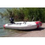 Човен надувний Шельф СК 330 SKF FASTen (сіро-червоний)