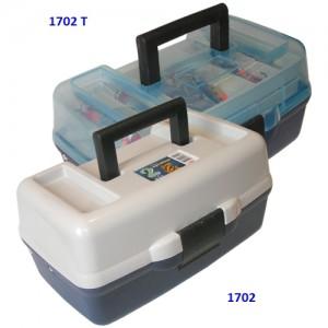 1702 T  Ящик 2-полочный для снастей c прозрачной крышкой
