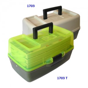 1703 T Ящик 3-поличковий для снастей c прозорою кришкою